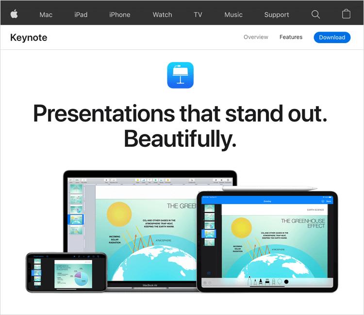 UI-UX tools - Keynote