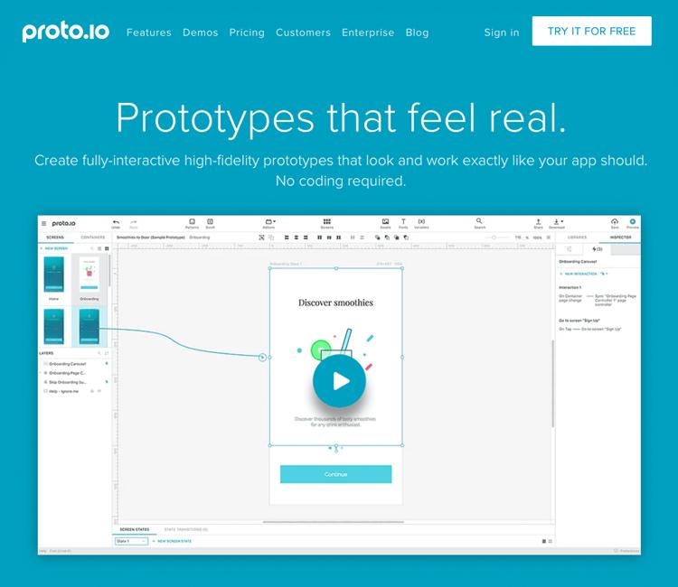UI-UX tools - Proto.io