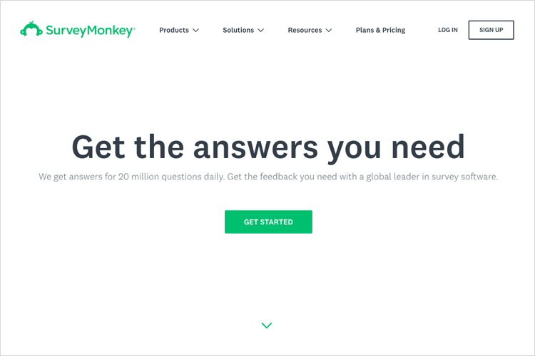 UX Tools - SurveyMonkey is a customizable survey software