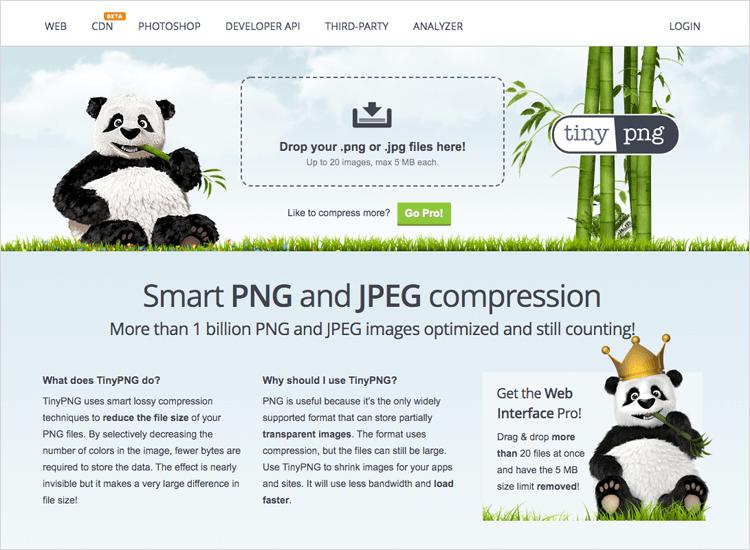 UX tools - Tiny PNG