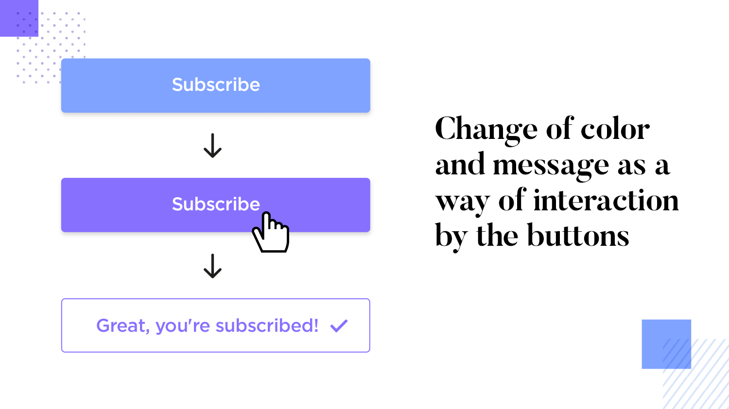 visually interactive button design