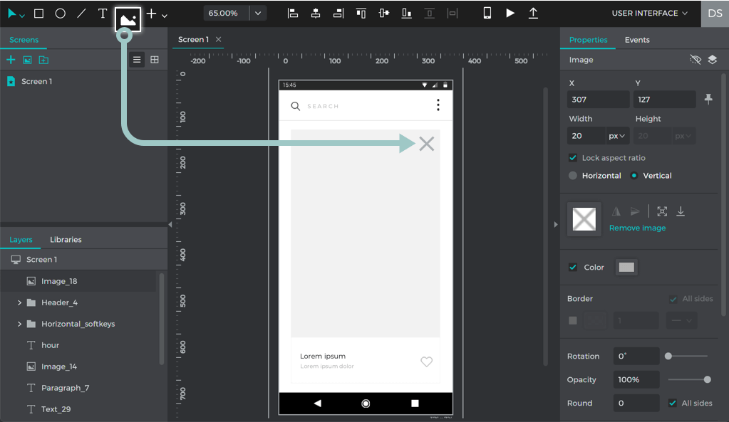 Add text, rectangles, and images to the canvas