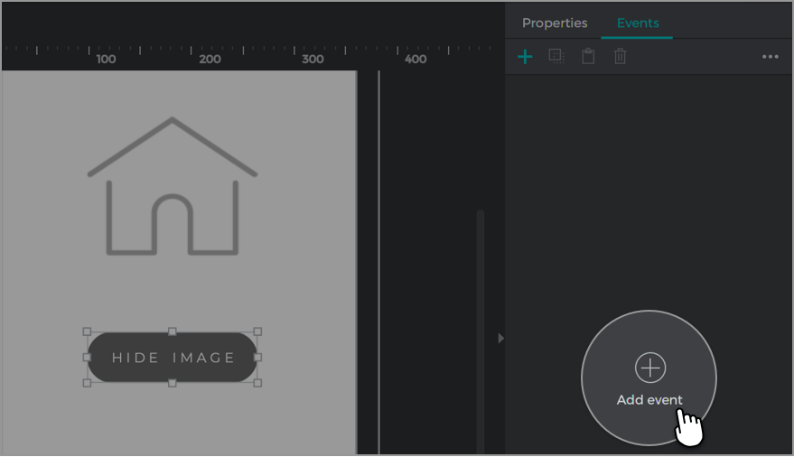 Click add event with the hide image button selected