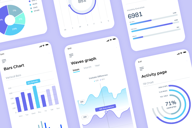 analytics mobile app mockup