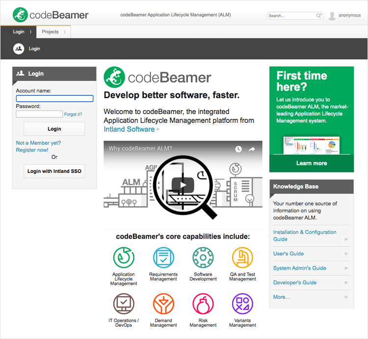 codebeamer for engineering requirements management tool