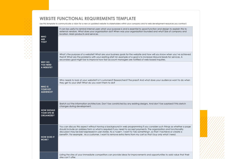 Functional specification document - Smartsheet