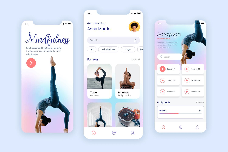 mobile app mocku[p for guided meditation