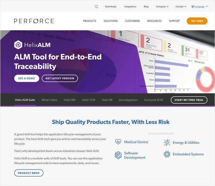 helix alm as a traceability matrix tool