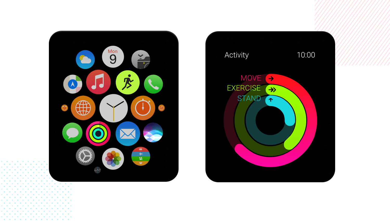 Apple Watch mobile app mockup