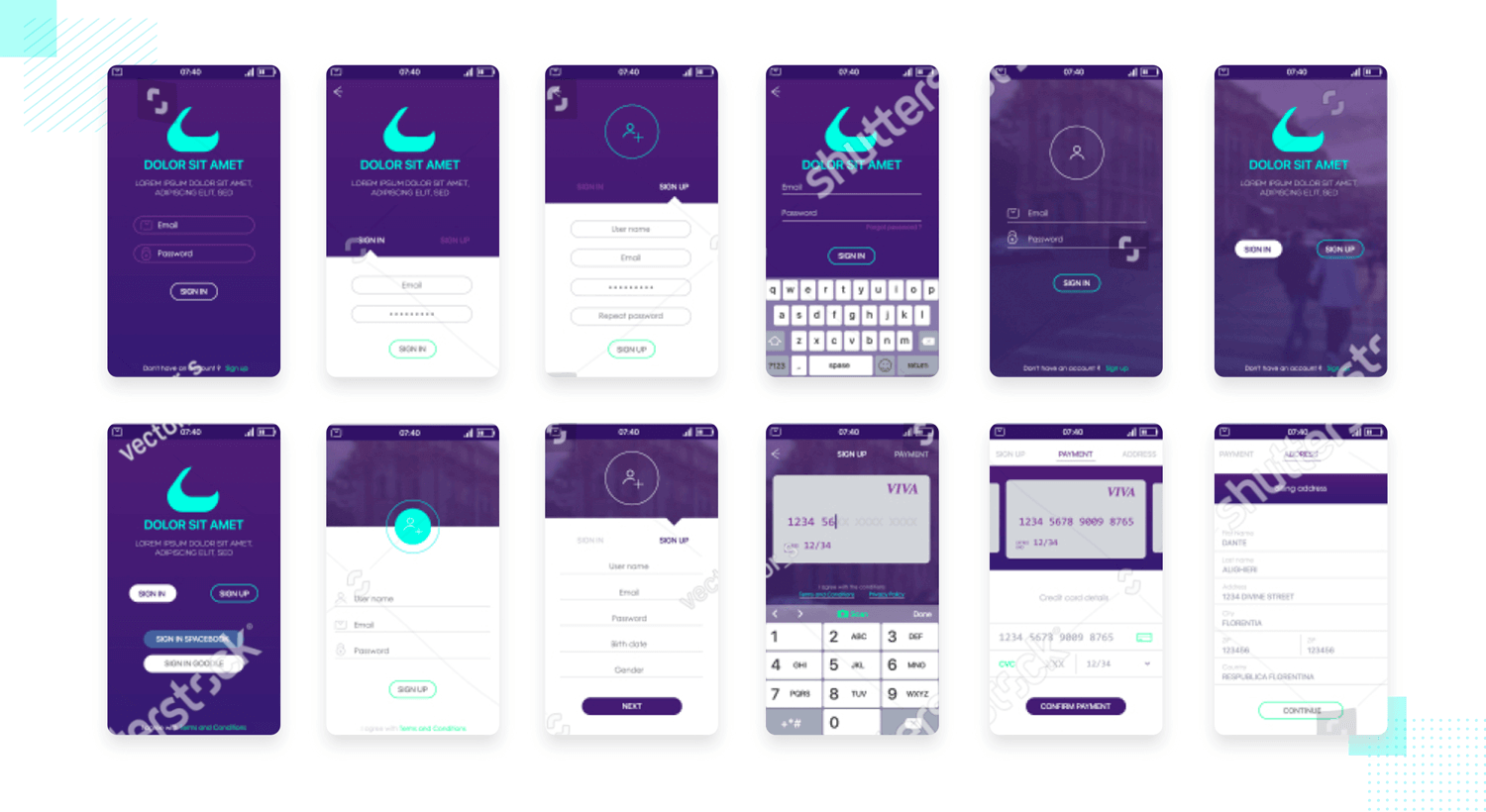 mobile app UI mockup available for free download