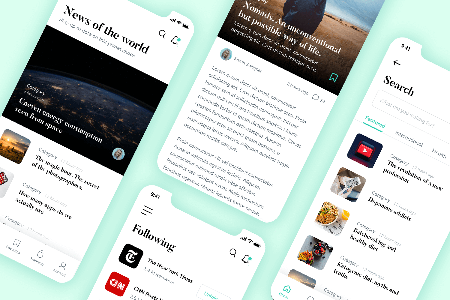 news editorial app free mockup for download
