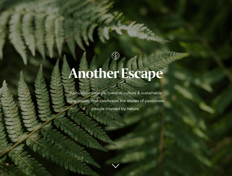 Parallax effect website scrolling - Another Escape
