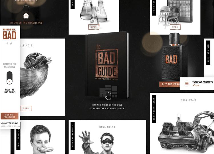 Parallax effect website scrolling - Bad Diesel