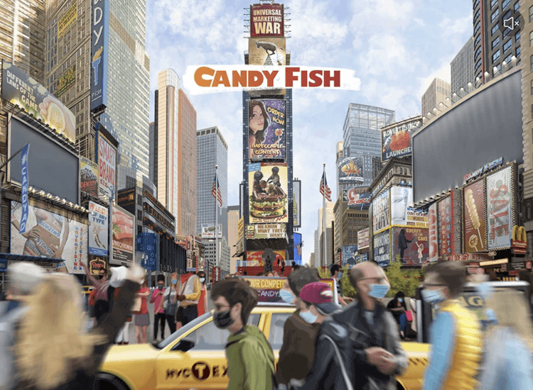 Parallax effect website scrolling - Candy Fish