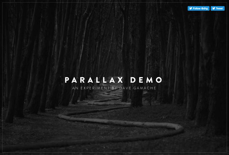 Parallax effect website scrolling - Dave Gamache
