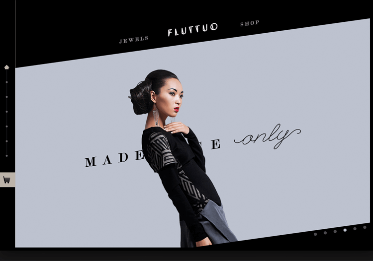 Parallax effect website scrolling - Fluttuo
