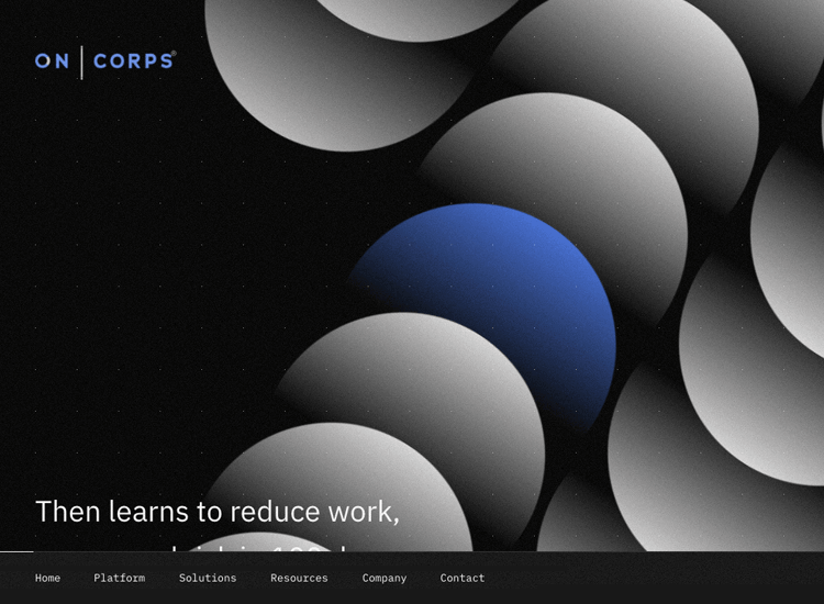 Parallax effect website scrolling - OnCorps