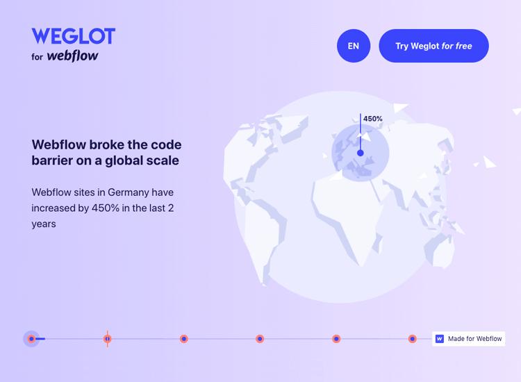 Parallax effect website scrolling - Weglot