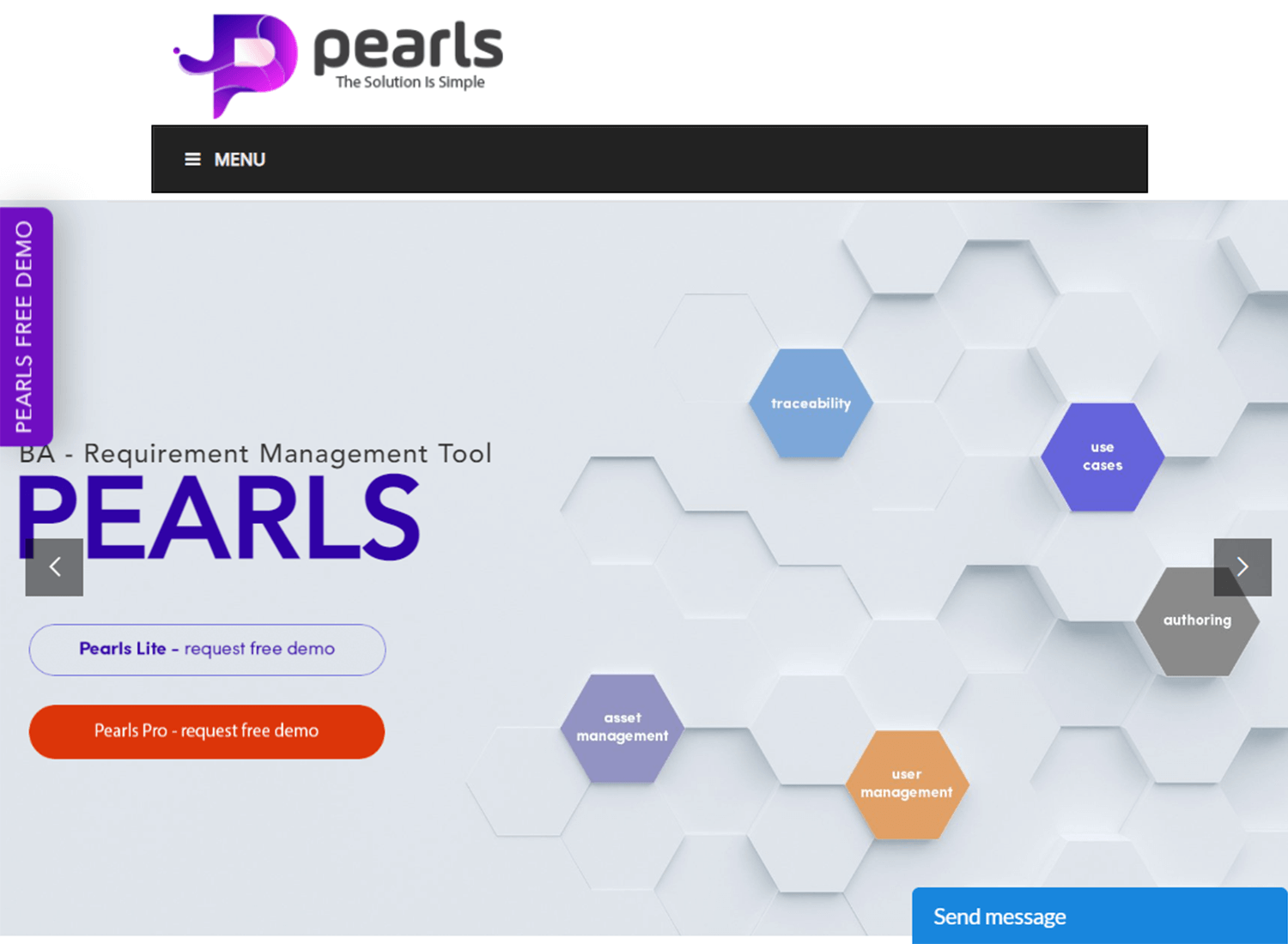 pearls as a requirements management tool for small teams