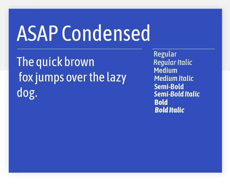 asap condensed as best google font for design
