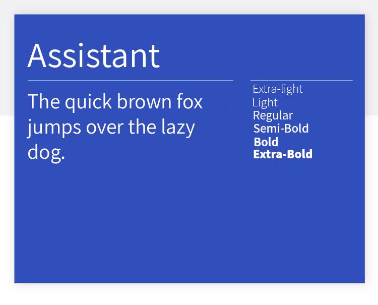 assistant as best google font for web design