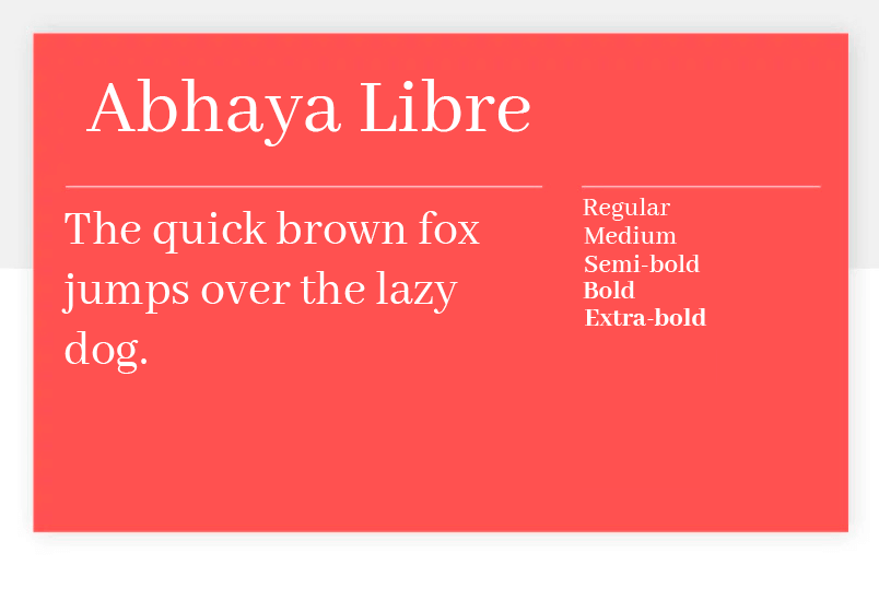 abhaya libre as wonderful free font for ux