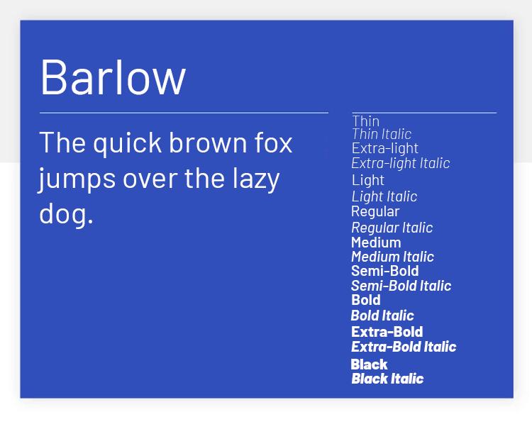 barlow as best google font