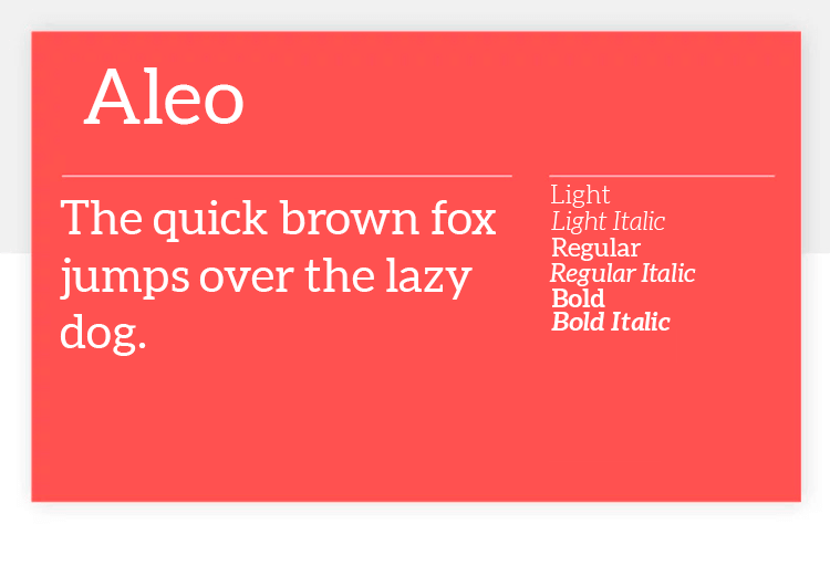 aleo as great google font for ui