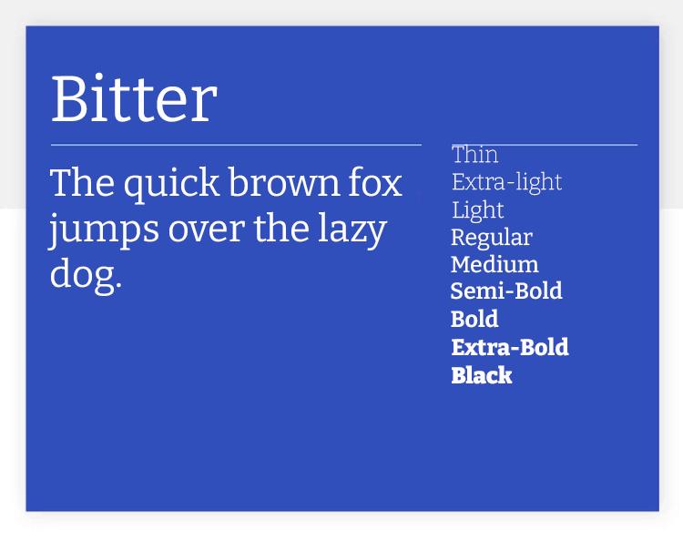 bitter as classic google font