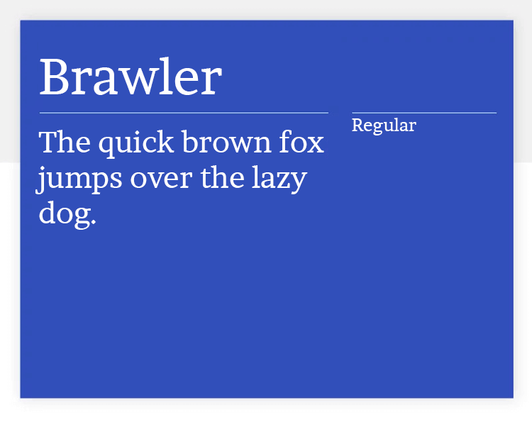 brawler as regular google font