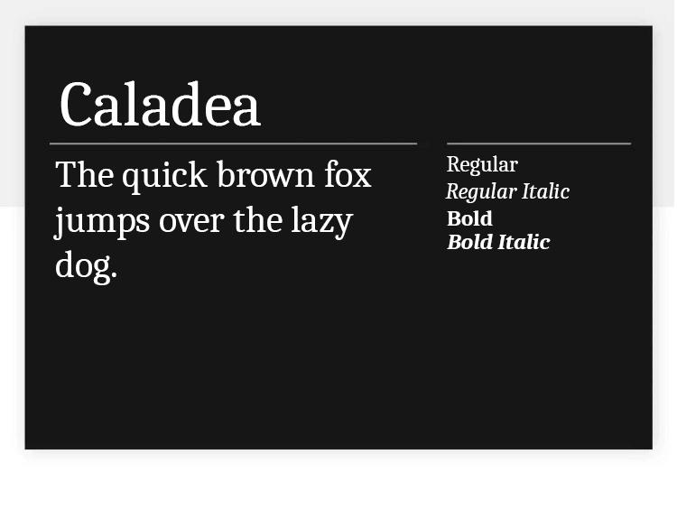 caladea as great google font