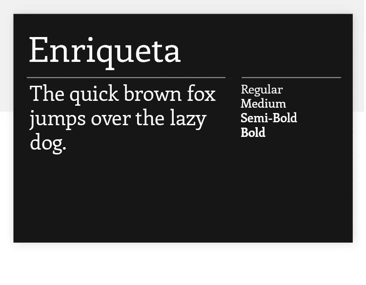 enriqueta as example of great google font for free
