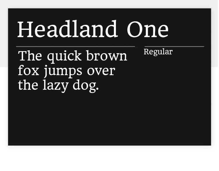 headland one as best google font