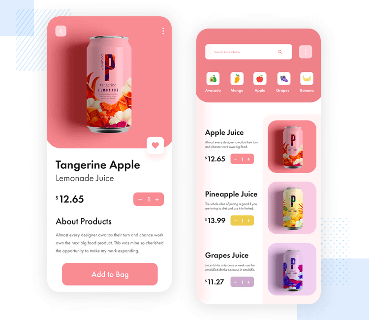 iOS app design - Ecommerce UI