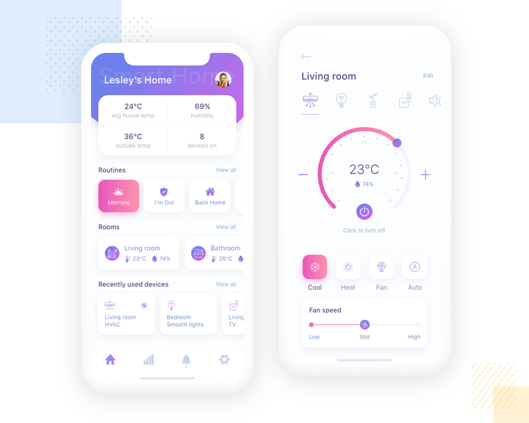 iOS app design - Smart Home UI