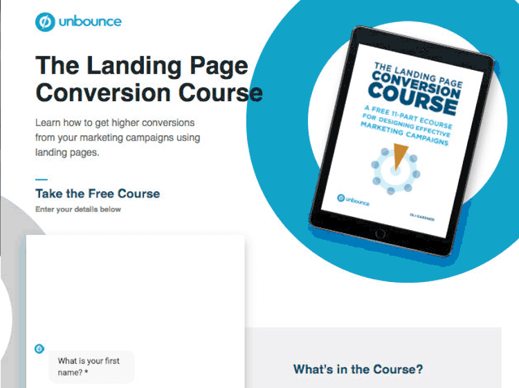 landing page example with high conversion