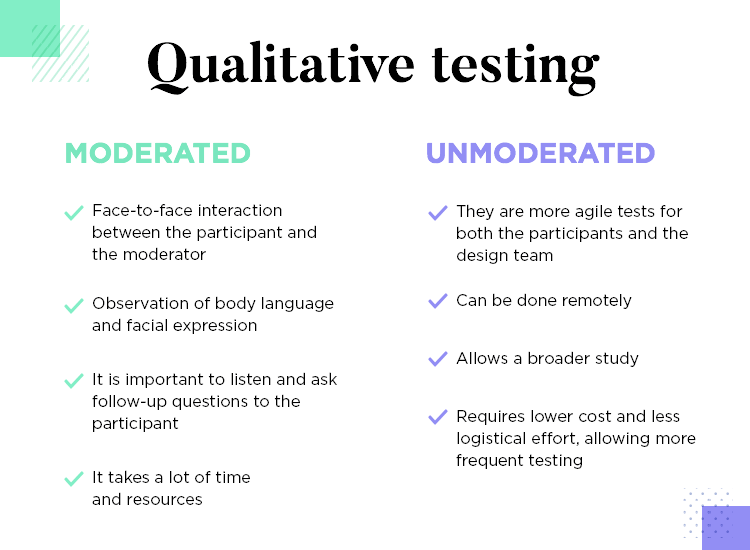 positives from moderated task based qualitative tests