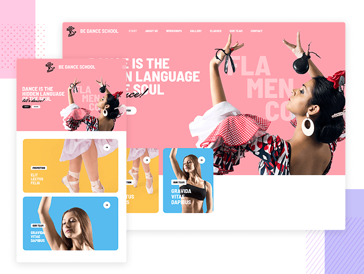 Responsive website examples - BeDance School