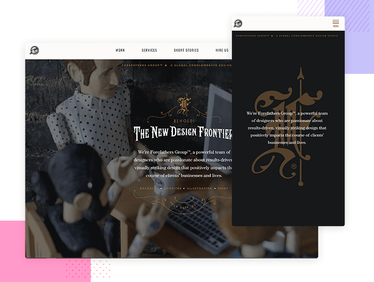 Responsive website examples - Forefathers Group