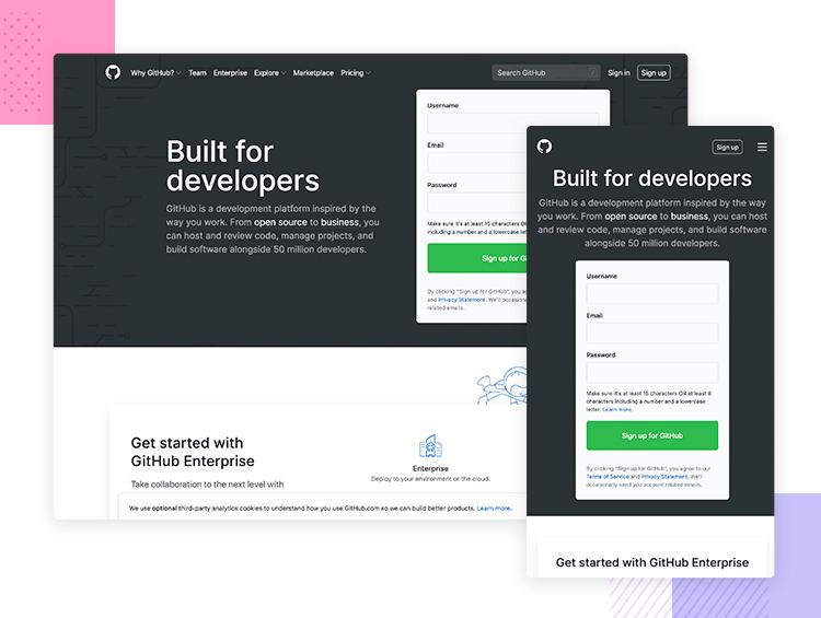 Resonsive website examples - GitHub