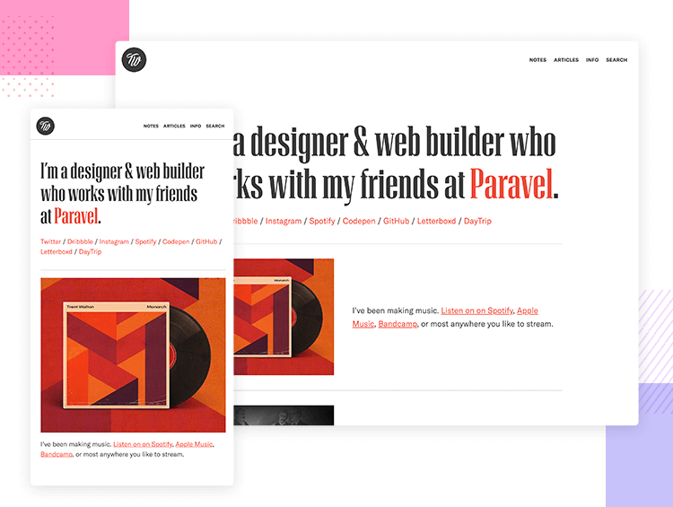Responsive website examples - Paravel