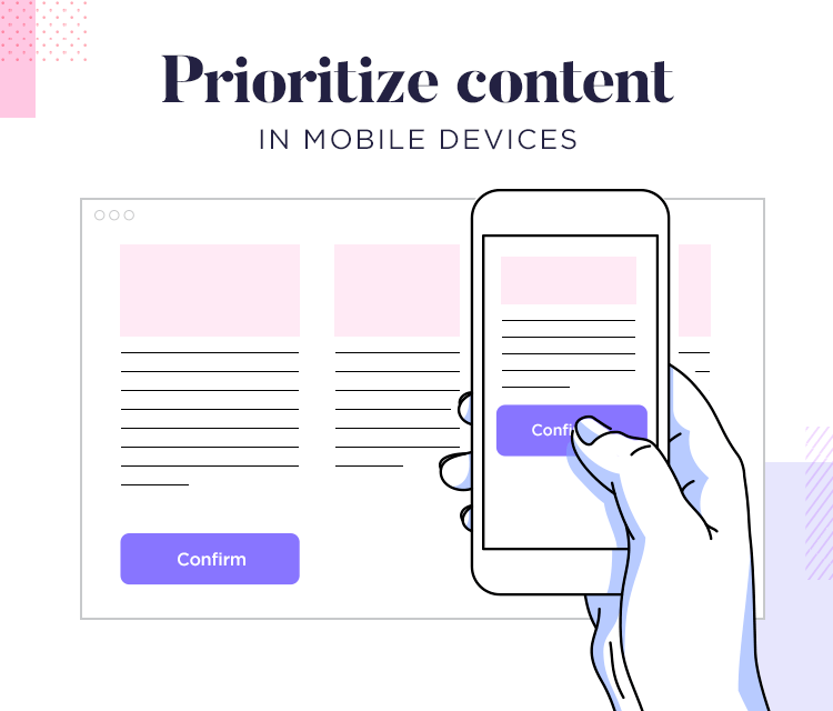 Responsive website examples - prioritize content for mobile