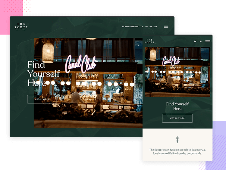 Responsive website examples - The Scott Resort