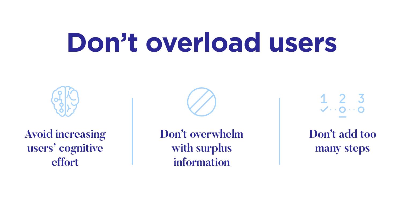 User onboarding - cognitive overload