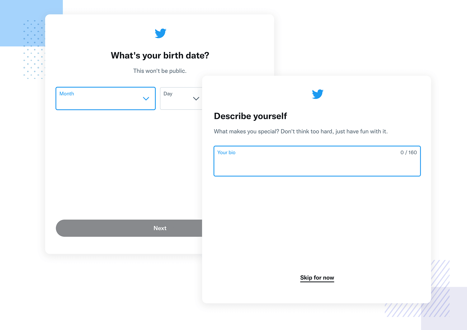 User onboarding examples -Twitter
