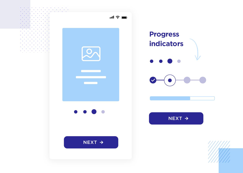User onboarding - progress indicator