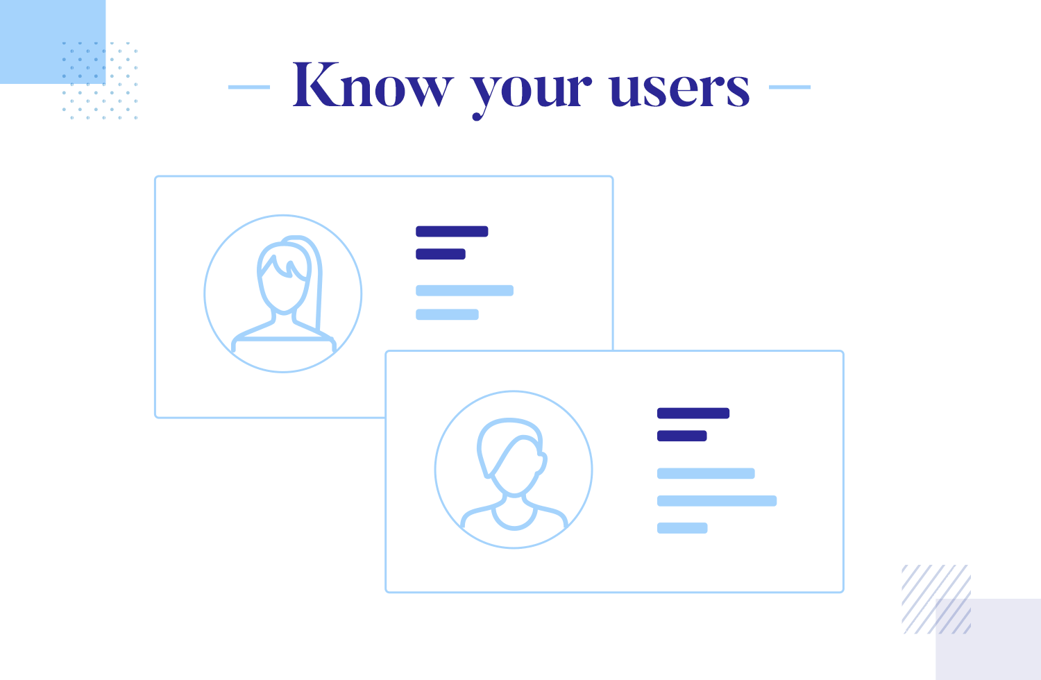 User onboarding best practices - know your users