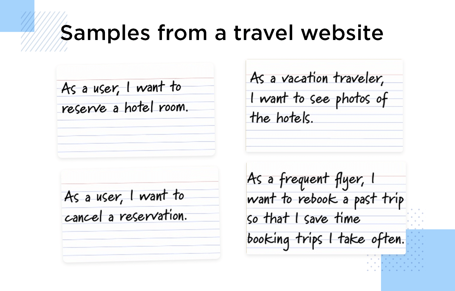 4 travel website user story examples