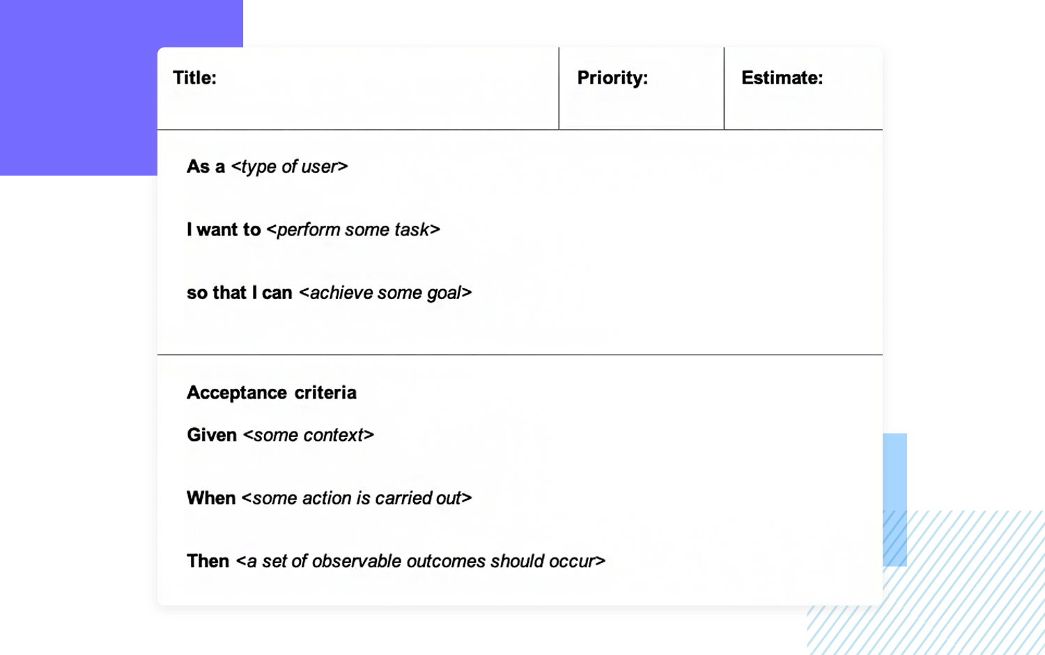 User story examples - Word Doc
