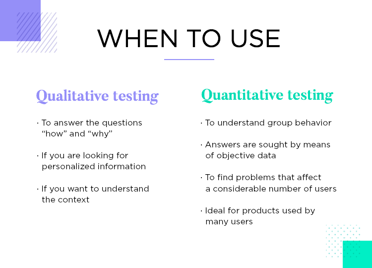 when big apps should carry out quantitative testing